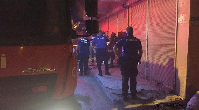 Adana'da mobilya atölyesinde yangın