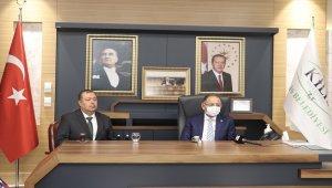 AK Partili Özhaseki'den Kilis Belediye Başkanı Servet Ramazan'a ziyaret