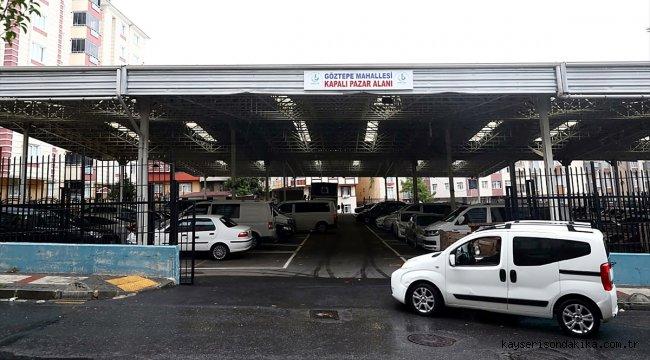 Bağcılar Belediyesi dolu tehlikesine karşı kapalı pazarları otoparka çevirdi