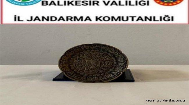 Balıkesir'de tarihi eser kaçakçılığı operasyonunda 2 kişi yakalandı