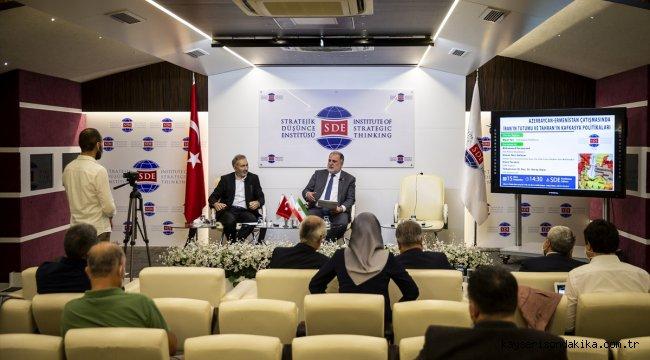 """Başkentte """"Azerbaycan-Ermenistan çatışmasında İran'ın tutumu"""" konulu panel düzenlendi"""