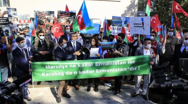Başkentte, Fransa'nın Karabağ ile ilgili tutumu protesto edildi
