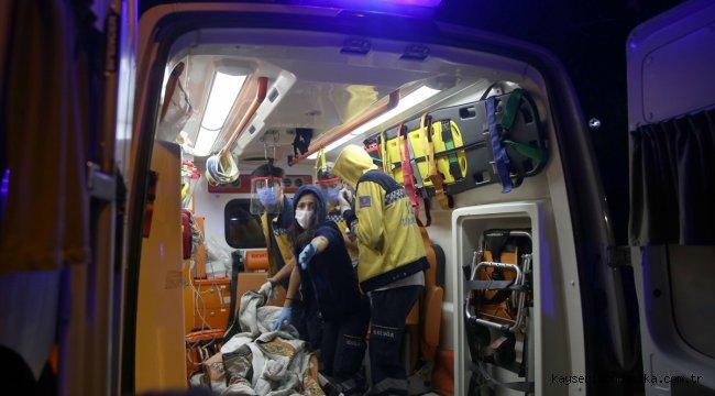 Beşiktaş'ta evde çıkan yangında yaşlı kadın yaralandı