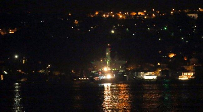 Beykoz açıklarında sürüklenen kuru yük gemisi demirleme sahasına çekildi