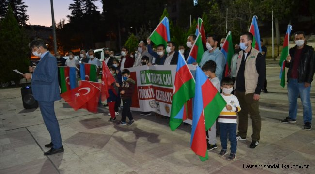 Bilecik'te Azerbaycan'a destek konvoyu oluşturuldu