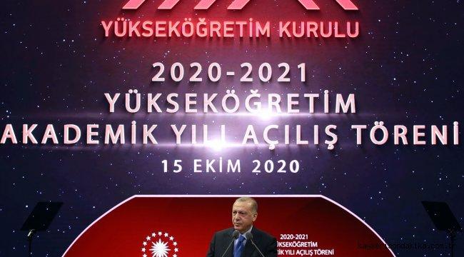 """Cumhurbaşkanı Erdoğan: """"YÖK Sanal Laboratuvar Projesi ile genel kimya ve fizik laboratuvarı dersleri sanal ortamda verilebilecek."""""""