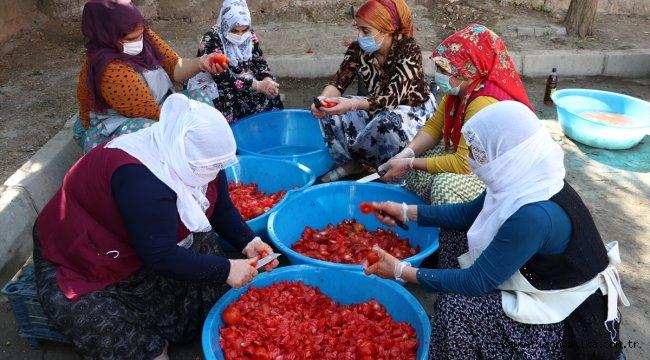 Diyarbakırlı kadınlar hazırladıkları konserveleri ihtiyaç sahiplerine ulaştırıyor