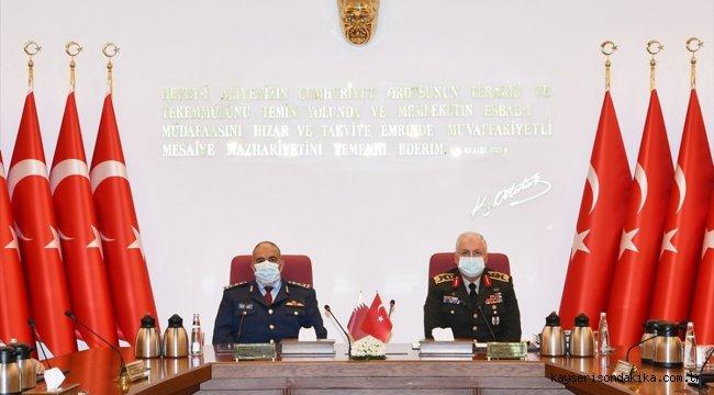 Genelkurmay Başkanı Orgeneral Güler, Katar Genelkurmay Başkanı el-Ganim ile bir araya geldi