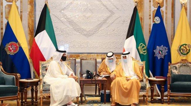 """Katar Emiri'nden Kuveytli mevkidaşına """"iki ülke ilişkilerinin geliştirilmesi"""" içerikli mektup"""