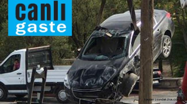 Kayseri'de sulama kanalına düşen aracın sürücüsü yaralandı