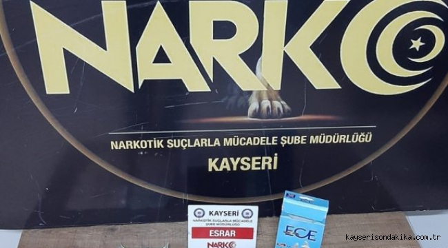 Kayseri Son Dakika Asayiş Haberi: Kayseri'de uyuşturucu operasyonu