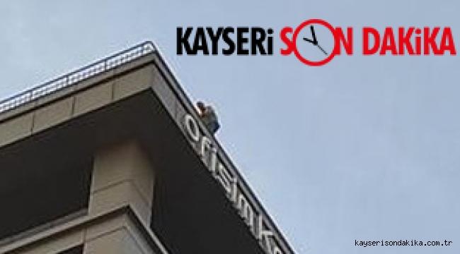 Kayseri Son Dakika Haberi: Aynı binanın teras katında ikinci intihar vakası! (VİDEOLU HABER)
