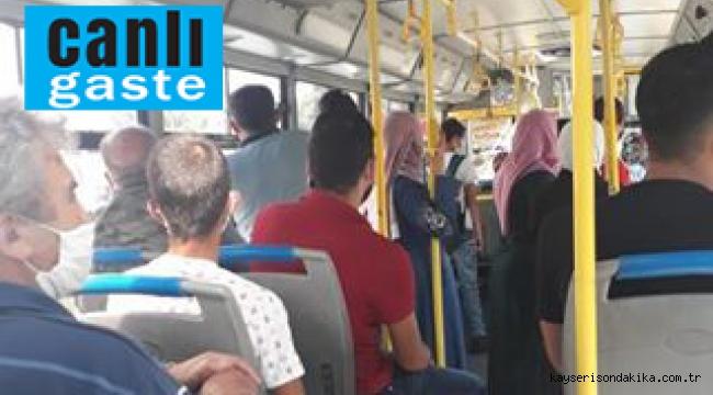 Kayseri Son Dakika Haberi: Toplu taşımada ayakta yolcu dönemi başladı