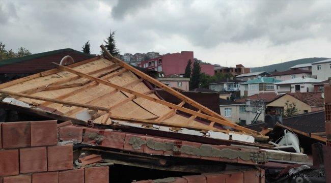 Kocaeli'nde şiddetli rüzgar etkili oldu