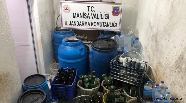 Manisa'da 10 bin 485 litre sahte içki ele geçirildi