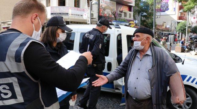 """Maskeyi düzgün takmasını isteyen polise """"Ben vebalı değilim"""" yanıtı verdi"""