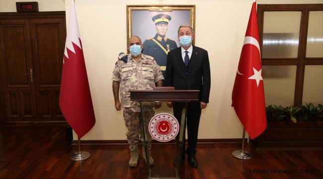 Milli Savunma Bakanı Akar, Katar Genelkurmay Başkanı el-Ganim'i kabul etti