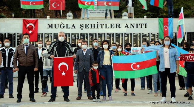 Muğla'da sağlık çalışanlarından Azerbaycan'a motosikletli destek konvoyu