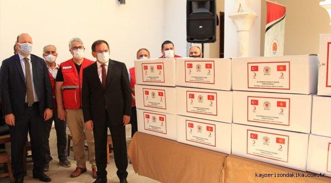 Samsun'dan Kırgızistan'a 180 bin maske gönderildi