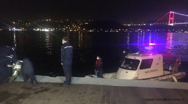 Sarıyer'de denize düşen kadın kurtarıldı