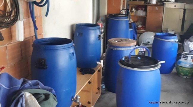 Tekirdağ'da 500 litre kaçak içki ele geçirildi