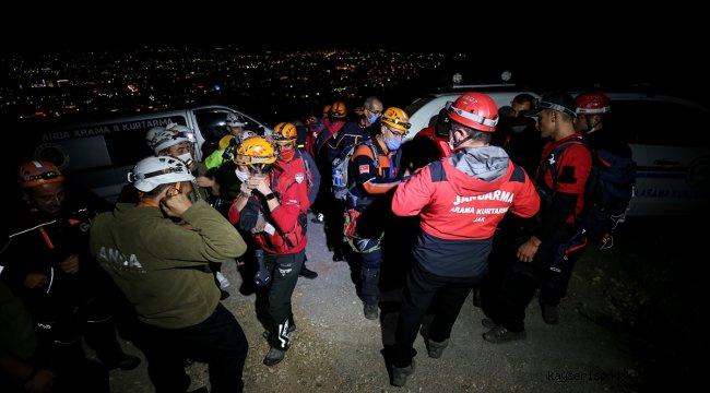Uludağ'ın eteklerinde kaybolan 4 kişi için arama çalışması başlatıldı