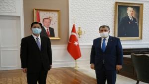 Sağlık Bakanı Koca, Çin'in Ankara Büyükelçisi Şaobin ile görüştü