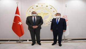 """Sağlık Bakanı Koca, Rusya'nın Ankara Büyükelçisi Yerhov ile """"Sputnik V"""" aşısını görüştü"""
