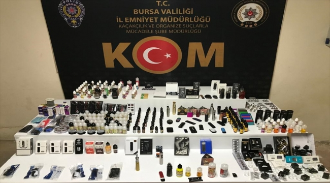 Bursa'da gümrük kaçağı elektronik sigara sattığı iddia edilen 4 şüpheli yakalandı