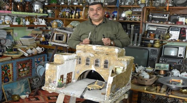 Iraklı antikacı, yaptığı minyatürlerle kaderine terk edilen tarihi yapıları yeni nesillere tanıtıyor