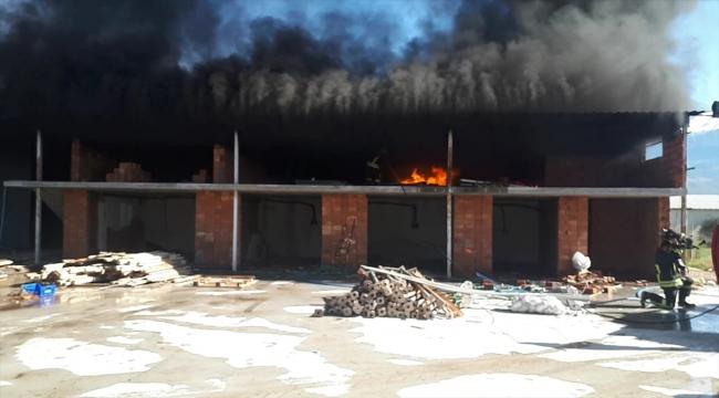 Muğla'da fidan üretim tesisinde çıkan yangın söndürüldü