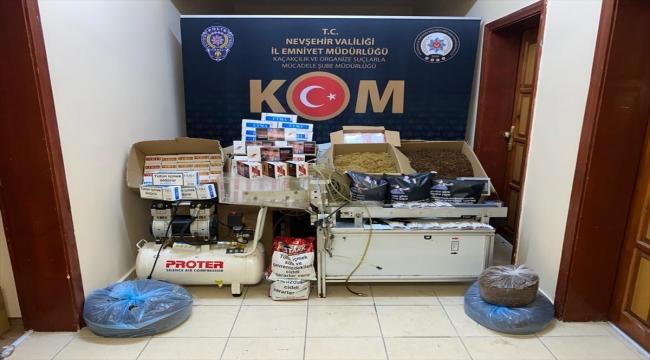 Nevşehir'de kaçak sigara imal ettikleri iddiasıyla 2 şüpheli yakalandı