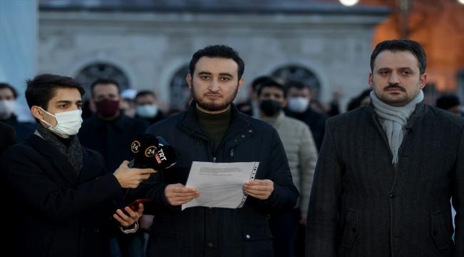 TÜGVA, Boğaziçi Üniversitesi önünde Kabe fotoğrafının yere serilmesine tepki gösterdi
