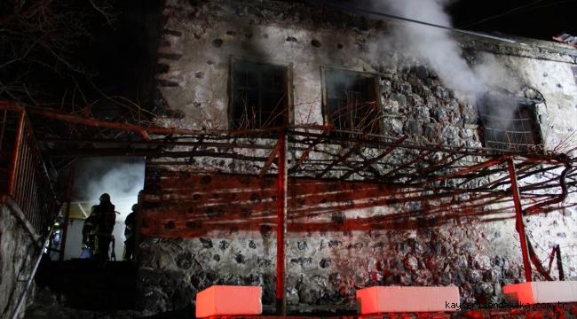 Kayseri'de alkol alıp evini ateşe verdi, gözaltına alındı