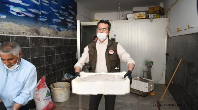Kayseri'de kaçak avlanan 1250 kilogram sazan ve yayın balığı ele geçirildi