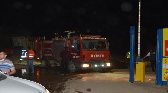 GÜNCELLEME- Afyonkarahisar'da biyokütle enerji santralinde yangın çıktı (2)