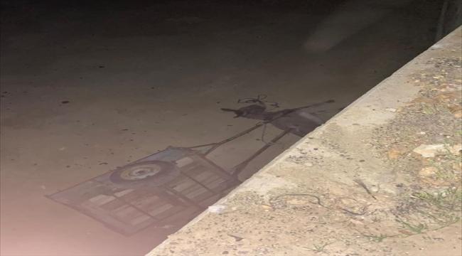 Uşak'ta eşek arabasıyla göletin tahliye kanalına düşen kişi ağır yaralandı