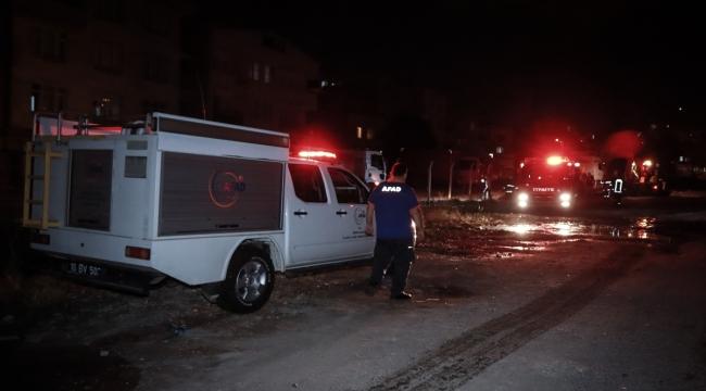 GÜNCELLEME - Bursa'da araziye bırakılan kimyasal maddenin alev alması sonucu çıkan yangın söndürüldü