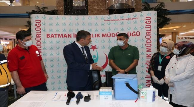 Batman Valisi Şahin, hedeflerinin aşılamada mavi rengi yakalayabilmek olduğunu söyledi