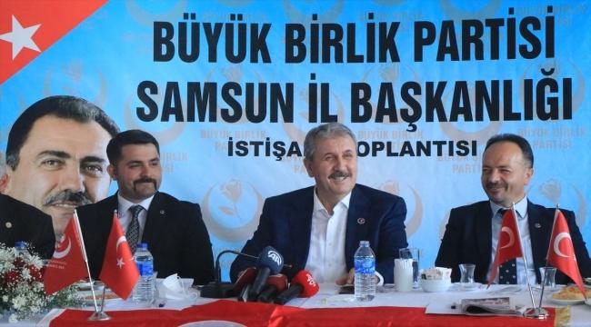 BBP Genel Başkanı Mustafa Destici, Samsun'da konuştu: