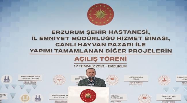 Cumhurbaşkanı Erdoğan Erzurum'da toplu açılış töreninde konuştu: (1)