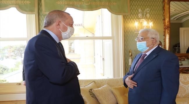 Cumhurbaşkanı Erdoğan ile Filistin Devlet Başkanı Abbas görüşmesi başladı