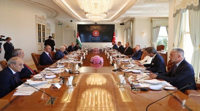 Cumhurbaşkanı Erdoğan ile Filistin Devlet Başkanı Abbas'ın heyetler arası görüşmeleri sona erdi