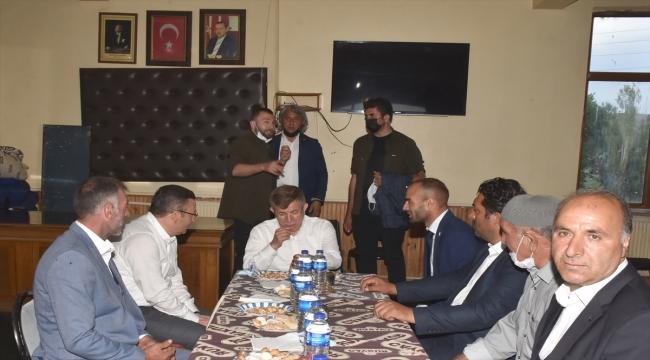 Gelecek Partisi Genel Başkanı Ahmet Davutoğlu, Erzurum'da nikah şahitliği yaptı