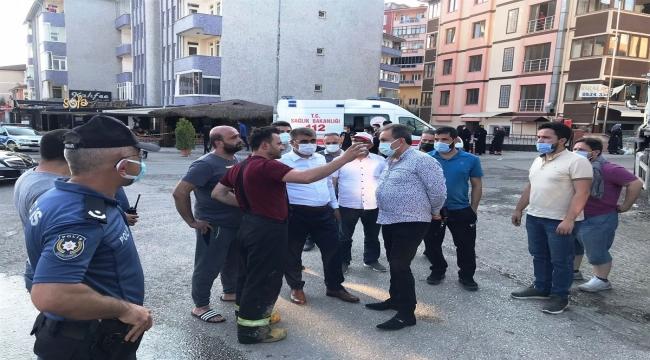 Karabük'te iki gündür aralıklarla süren süpermarket yangını söndürüldü