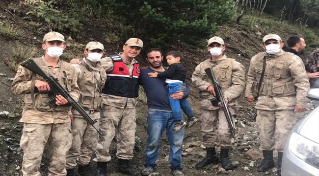 Kars'ta kaybolan çocuk ormanda bulundu