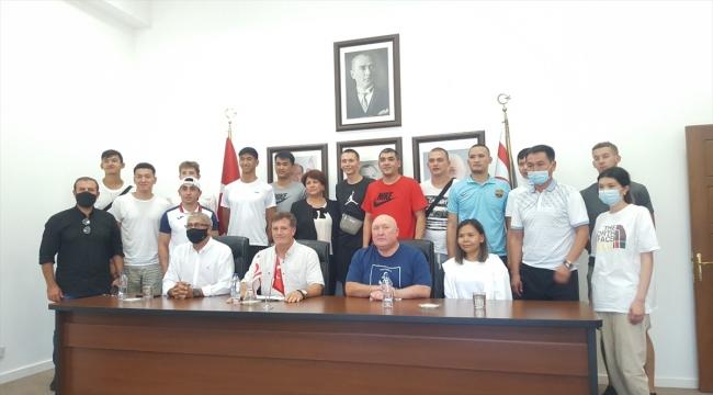 Kırgızistan Basketbol Milli Takımı dostluk maçı için KKTC'ye geldi