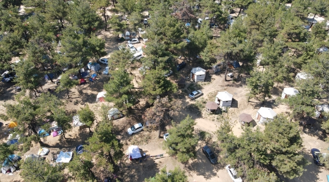 Kurban Bayramı tatilinde Edirne'deki çadır kamplara yoğun ilgi