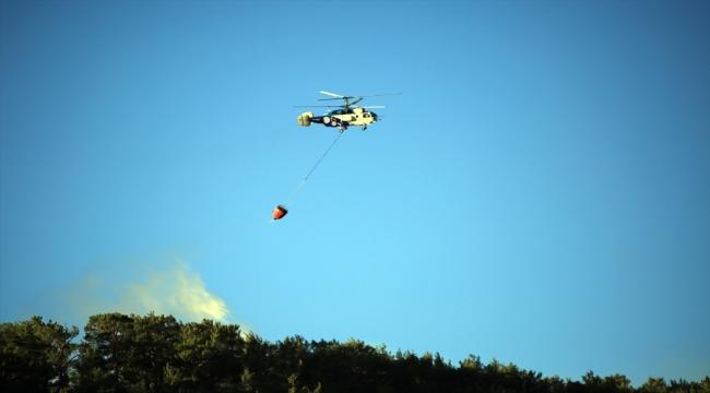 Mersin'deki iki ilçede çıkan orman yangınlarına müdahale ediliyor