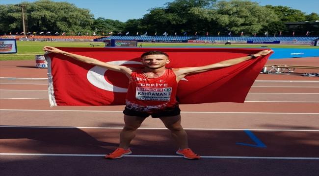 Milli atlet Mert Kahraman'dan Avrupa 20 Yaş Altı Atletizm Şampiyonası'nda gümüş madalya